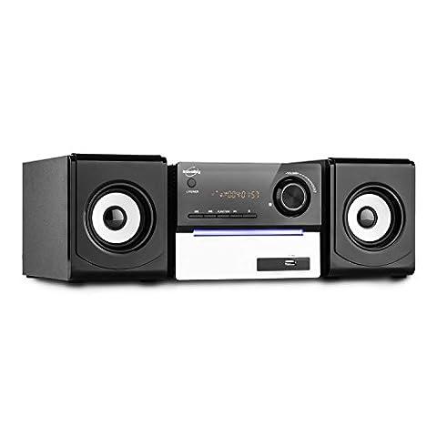 Inovalley CH11CD-BTH Kompaktanlage Mini Hifi-Anlage Stereoanlage mit Bluetooth (MP3-CD-Player, USB- und SD-Slot, UKW-Radio, AUX, Fernbedienung)