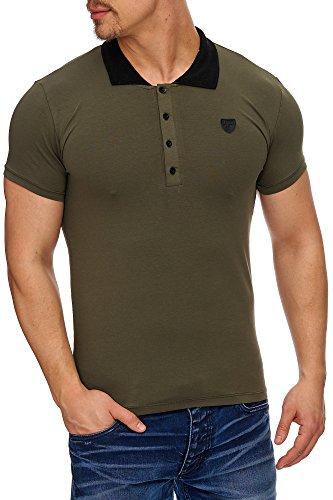 TAZZIO Herren Polo-Shirt Polohemd Poloshirt 17101 Khaki