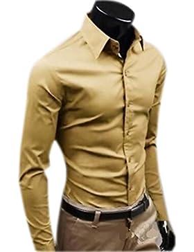 Camicie Uomo Slim Fit Maniche Lunghe Casual Camicia Abito Camicia Affari Top Classiche Formale Camicetta Shirt...