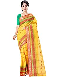Slice Of Bengal Light Weight Broad Border Handloom Cotton Taant Tangail Saree 101001001240