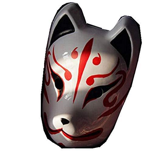 ts-handgemalte Japan-Fox-Maske Kitsune Cosplay Maskerade ()