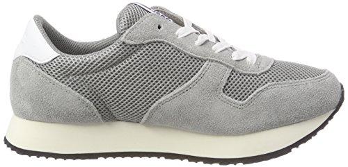 Hilfiger Denim Damen Tommy Jeans Star Sneaker Grau (Light Grey 004)