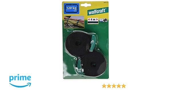 Wolfcraft 3421000 2 Bandspanner mit Federklemme 4 m
