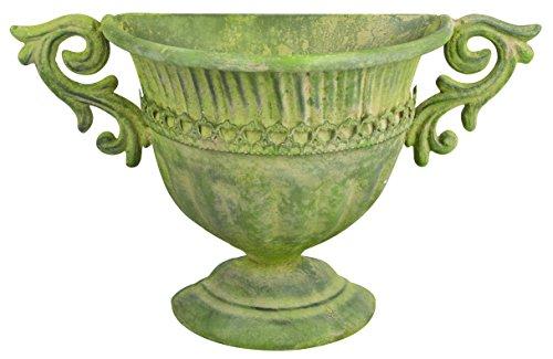 Esschert Design AM71Aged Metall Wand Urne, grün -