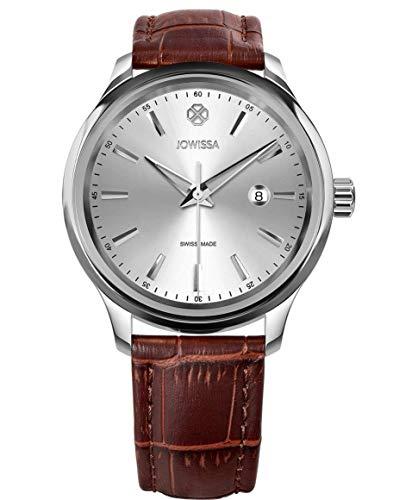 Jowissa Tiro Swiss J4.197.L - Reloj de Pulsera para Hombre, Color Plateado y marrón