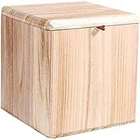 Preisvergleich für Lagerung Hocker LXF Fußhocker Change Shoe Hocker Aufbewahrungsbox Mit Deckel Square Ottoman Holz Gepolsterte Multifunktionale Fußstütze Dressing Make-up Hocker (Farbe : Style 2)