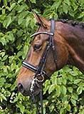 Hans Melzer Horse Equipment Kandare Wiesbaden LACK, schwarz/silber, Pony