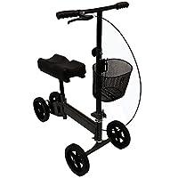 Outdoor Knee Walker Folding Rollator Adjustable Scooter All Terrain Knee with Brakes