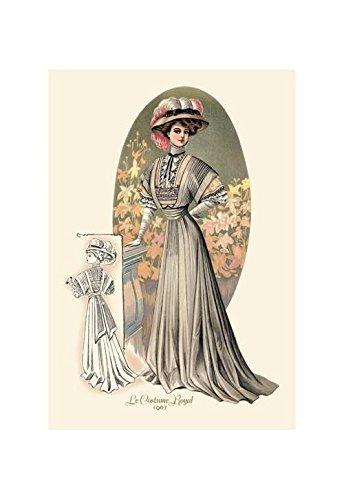 Kostüm Royal: Lady in Grün Kunstdruck (Leinwand Giclée-12x 18) von Buyenlarge (Royal Lady Kostüm)