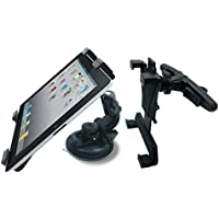 Maclean MC-589AB Supporto Staffa Auto per Tablet da 7'' fino a 10.2'' 2in1 Universale Rotativo 360°