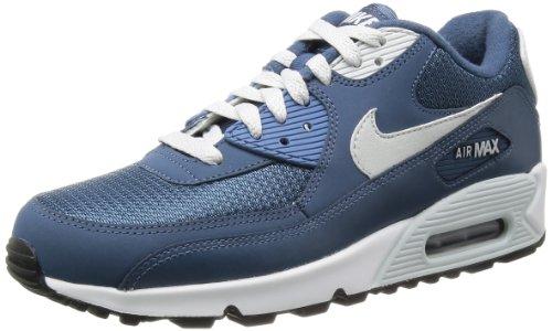 Nike Air Max 90 333888, Herren Low-Top Sneaker Blau (Dark Obsidian/Orange)