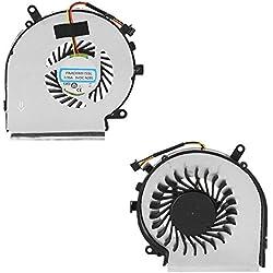 ASHATA Ventilateur CPU MSI, Ventilateur De Refroidissement pour Série MSI GE62 GL62 GE72 GL72 GP62 GP72 PE60 Série PE70