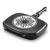 Tefal Ideal Cast Aluminium Double Sided Pan, 32 x 24cm - Black
