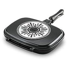 Tefal Ideal Double Sided Pan, Black, W 49.0 x H 34.4 x D 8.0 cm, Aluminium