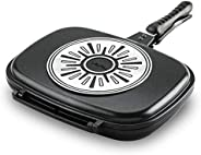 Tefal Ideal Double Sided Pan - A6339084, Black