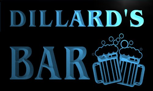 cartel-luminoso-w001062-b-dillard-name-home-bar-pub-beer-mugs-cheers-neon-light-sign