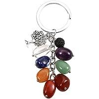 JOVIVI 7 Chakra Schlüsselanhänger mit Lebensbaum Anhänger Trommelsteine Baum des Lebens Schlüsselbund Schlüsselring... preisvergleich bei billige-tabletten.eu
