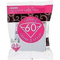 Hario Papierfilter weiß/Filtertüten Misarashi, klein für V60-01, 100 Stück