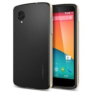 Spigen SGP10564 Neo Hybrid Slim Dual Layer Bumper Protection Cover Case for Google Nexus 5 (Champagne Gold)