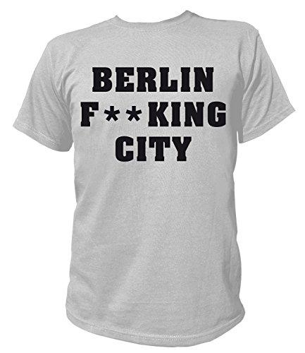 Artdiktat Herren T-Shirt - Berlin Fucking City Größe XXXL, grau