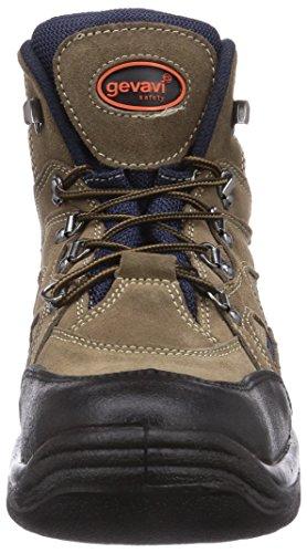 Gevavi  WORKER S1P WERKSCH HG, Chaussures de sécurité mixte adulte Marron - Braun (braun (bruin) 05)