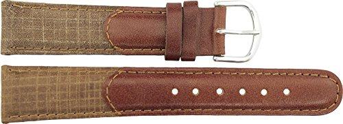 Cinturino Orologio in Marrone Pelle - 18mm - - Fibbia in Argento acciaio...