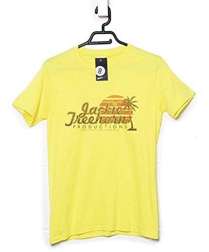 Refugeek Tees - Herren Jackie Treehorn Productions T Shirt - X-Large - Yellow haze