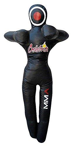 Celebrita MMA Boxsack Grappling Dummy - stehend - die Hände auf der Brust MMA362 Vinyl-Black 70