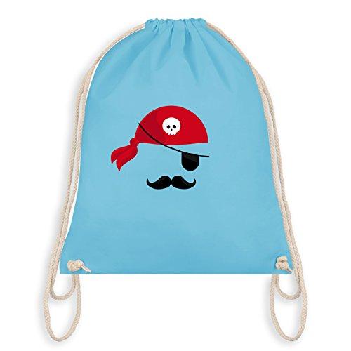 & Fasching - Pirat Kostüm - Unisize - Hellblau - WM110 - Turnbeutel I Gym Bag (Blaue Piraten Mädchen Kostüme)