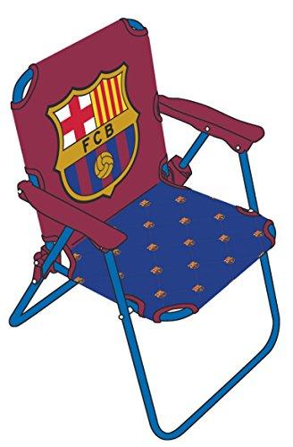 SILLA PLEGABLE FCB. Disfruta tomando el sol en la playa en la silla plegable de FCB.