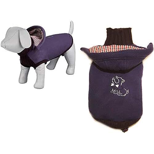 regalos tus mascotas mas kawaii Mejia perchero de pared de acolchado Jersey XS S M L XL XXL XXL perro ropa funda lujo cachorro mascota ropa abrigo chaqueta T Shirt Ropa Jersey sudadera con capucha invierno Navidad regalo caliente rosa azul pequeño mediano y grande perros Extra grandes perros grandes