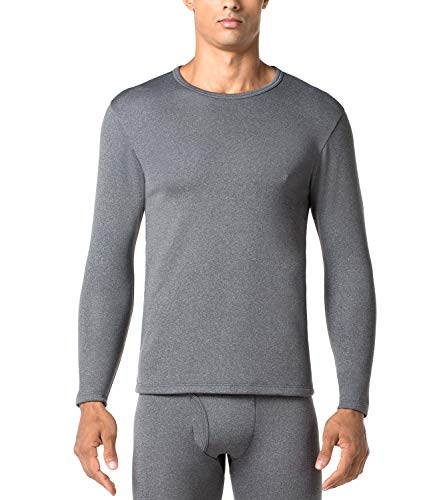 LAPASA Uomo Maglia Termica Invernale Ad Alta Densità T-Shirt Maniche Lunghe Ultra Termico Heavyweight M26 (XX-Large, Grigio Scuro)