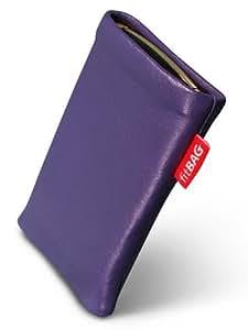 fitBAG Beat Lila Handytasche Tasche aus Echtleder Nappa mit Microfaserinnenfutter für Apple iPhone 4 16GB 32GB iPhone4 16 32 GB