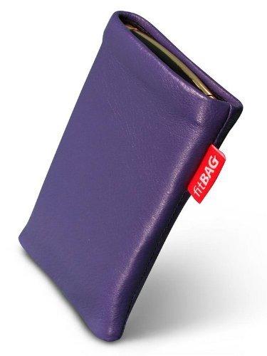 fitBAG Beat Lila Handytasche Tasche aus Echtleder Nappa mit Microfaserinnenfutter für Samsung SGH-X500