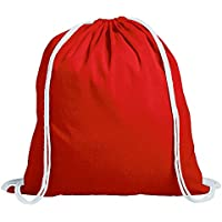 Algodón Bolsa Bolsa de deporte bolsa de deporte Rojo–36,5cm x 40,5cm