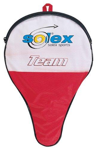 Solex Sports TT-Schlägerhülle Team mit Ballfach, rot/schwarz, 29 x 19 x 2 cm, 44253
