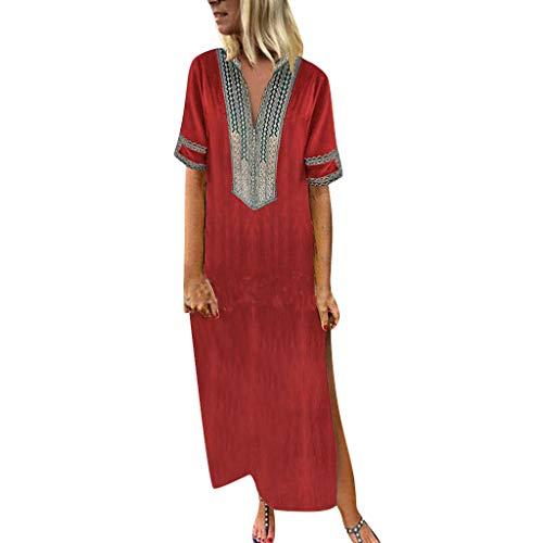 d0d9d03a8 Saihui_Women Dress Vestido Bohemio de Verano para Mujer, Talla Grande  S-5XL, Casual