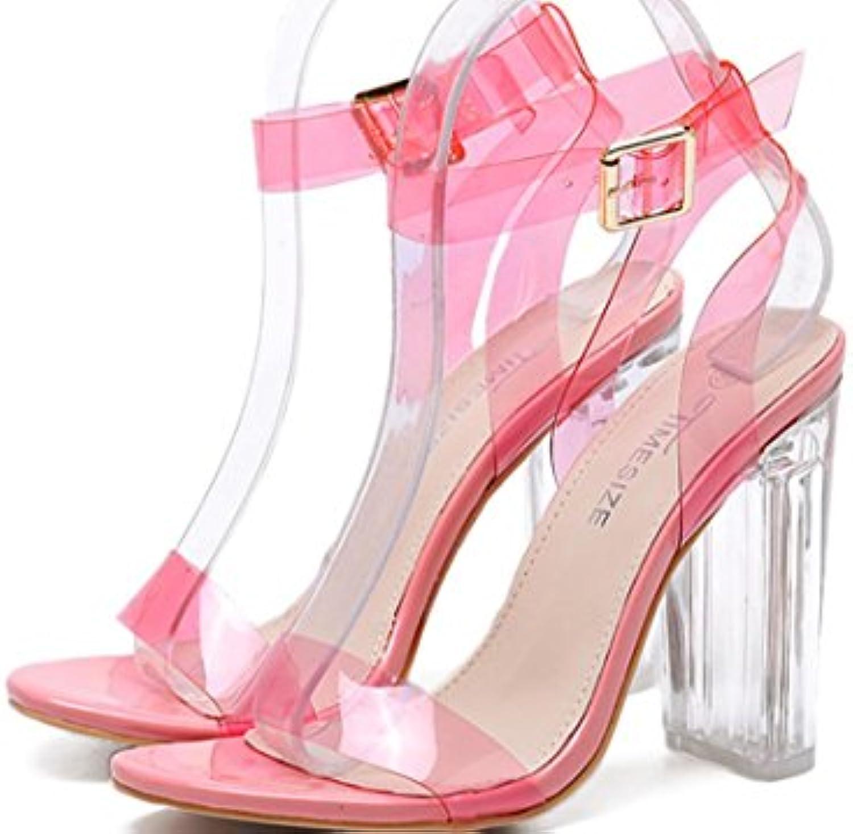 XDGG Donne nuovo nuovo nuovo alto con tacco trasparente VENDITA CALDA scarpe rosa nero Albicocca 39 36 35 38 37 40 , rosa... | Per tua scelta  547665