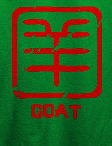 Chinese Signs Goat T-Shirt Grün