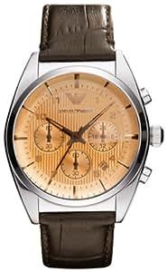 Emporio Armani Herren-Armbanduhr XL Chronograph Quarz Leder AR0395
