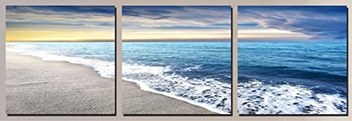 412QkvkQe5L UK BEST BUY #1OBELLA New Top Wall Art Canvas Prints 3 Pieces || Sea View || Modern Contemporary Posters Oil Paintings Prints and Pictures Photo Image Wall Art Prints on Canvas Painting for Home Bedroom Living Room Wall Decor Christmas Gifts Decoration   Frameless price Reviews uk