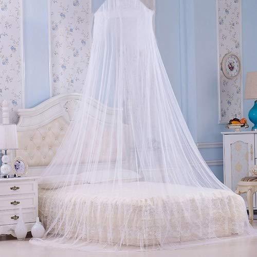 Zanzariera per letto, a cupola, ideale da portare in viaggio, colore: bianco