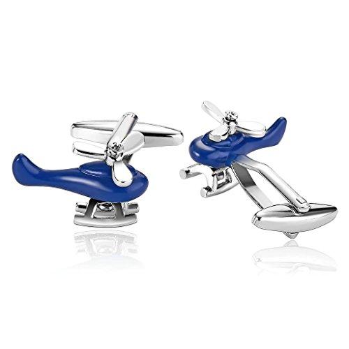 knsam-bijoux-homme-bouton-de-manchette-acier-inoxydable-cuff-links-aeroplane-jet-pilot-argent-bleu-1