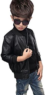 YoungSoul Cazadora Biker de Piel sintético de Invierno Chaqueta de imitación Cuero Abrigos de Vestir para Bebe