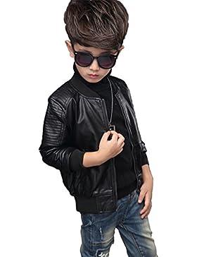 YoungSoul cazadora biker de piel sintético de invierno chaqueta de imitación cuero abrigos de vestir para bebe...