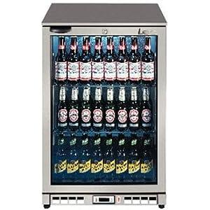 LEC Commercial 444443195 Single Door Back Bar Bottle Cooler, 138 L, Silver by LEC Commercial