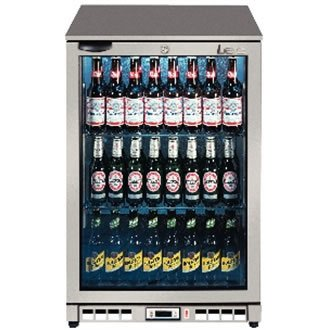 LEC Commercial 444443195 Single Door Back Bar Bottle Cooler, 138 L, Silver by LEC Commercial