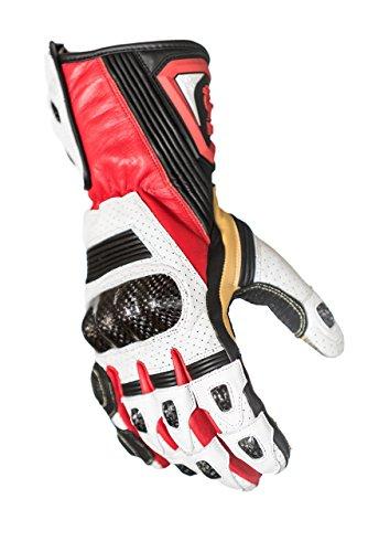 Schützen die King Hornet Premium Leder Gauntlet Sport Biker Motorrad Handschuhe, XXL Gauntlet Handschuhe Motorrad