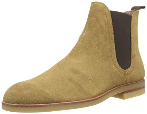 H by Hudson Herren Adlington Suede Chelsea Boots, Beige (Camel 34), 44 EU