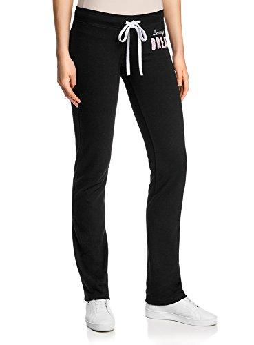 Oodji Jersey Ultra En Femme Avec 46 Pantalon Xxl Liens À NouerNoirFr If76gyvbY